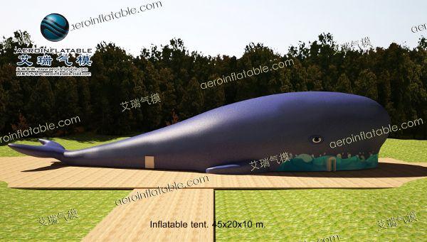 巨型鲸鱼膜结构惊现首都朝阳大悦城!